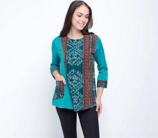 Model Baju Batik Atasan untuk Wanita yang Stylish ... d3b88f821a