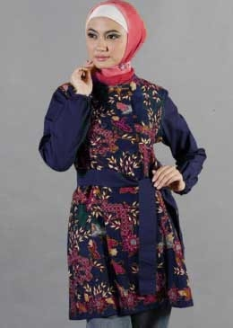 Model Baju Batik Kantor untuk Wanita Muslimah ... 397f97cdc0