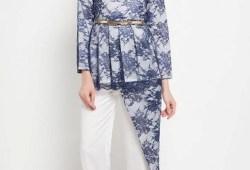 33+ Model Baju Batik Pesta Wanita Muslimah / Non Muslim Terbaru dan Terkini