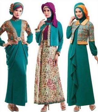 Tampil Beda dengan Baju Batik Muslimah Kombinasi Bolero