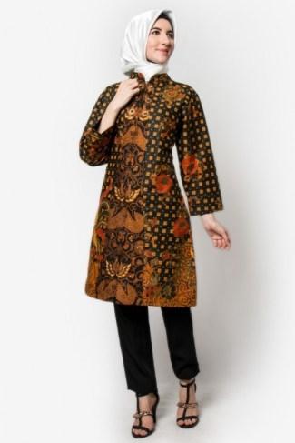 21 Model Baju Batik Guru Wanita Pria Seragam Modern Untuk Kerja bd9811a892