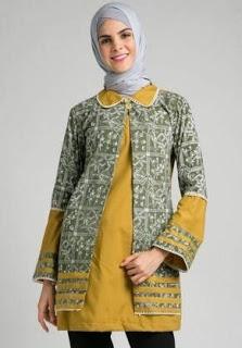 Model Baju Batik Atasan Kombinasi Terbaik Saat Ini