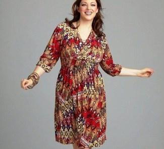 Model Baju Batik Atasan untuk Wanita Gemuk Kerah V