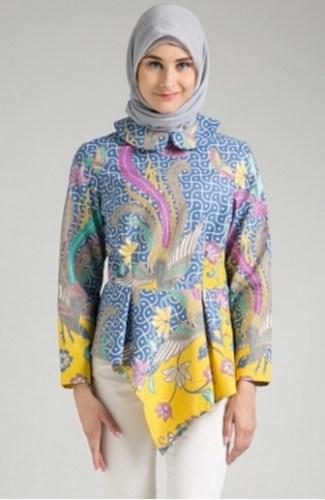 Model Baju Batik Atasan Wanita Lengan Panjang Terbaru ...