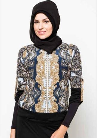 Model Baju Batik Atasan Wanita Lengan Panjang Terpopuler