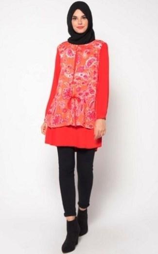Model Baju Batik Atasan Wanita Lengan Panjang untuk Anak Muda