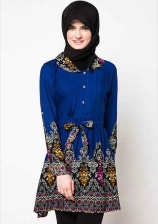 40 Model Baju Batik Atasan Wanita Terbaru 2018 Desain Modern Trendi 339cd07028