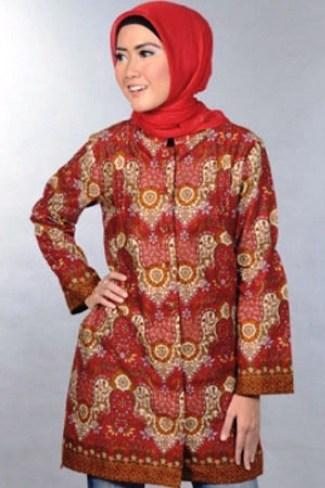 40 Model Baju Batik Atasan Wanita Terbaru 2018 Desain Modern