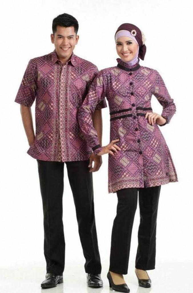 Model Baju Batik Couple untuk Pasangan Muslim Desain Elegan