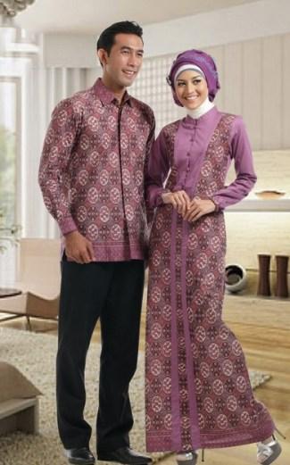 Model Baju Batik Couple untuk Pasangan Muslim Saat Pesta