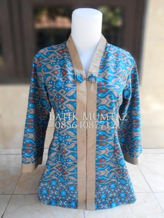 Model Blus Batik Buat Kerja