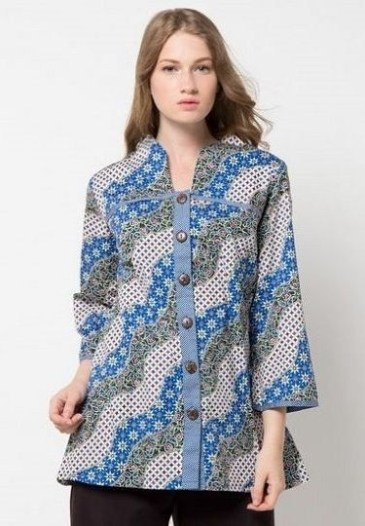 5800 Koleksi Model Baju Batik Kerja Wanita Elegan HD Terbaik