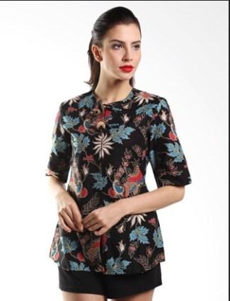 54 Model Baju Batik Kerja Kantor Pria Wanita Terbaru 2018 492d280806