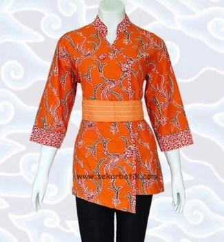 Model Baju Batik Pegawai Bank Wanita Tercantik