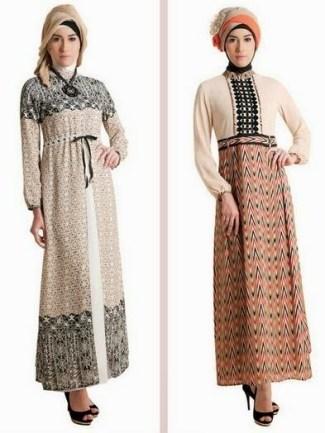 Model Baju Gamis Batik Kombinasi Kain Brokat Terbaru