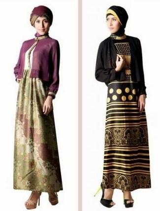 Model Baju Gamis Batik Kombinasi Kain Brokat Terpopuler Saat Ini