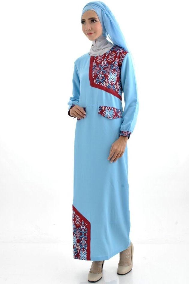 43 Model Baju Gamis Batik Terbaru 2019 Kombinasi Modern