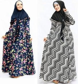 Model Baju Gamis Sifon Kembang Terpopuler dan Stylish
