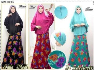 Model Baju Gamis Sifon Kembang
