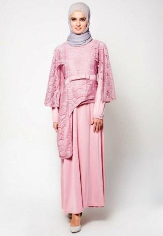 Model Baju Gamis Sifon Polos Berdesain Modern