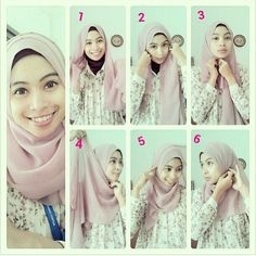 Tutorial Hijab Paris Simpel