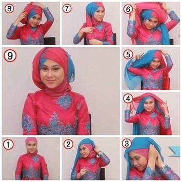 Tutorial Hijab Segi Empat untuk Pesta Simpel