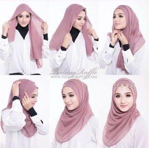 Tutorial Hijab Segi Empat untuk Pesta Terupdate