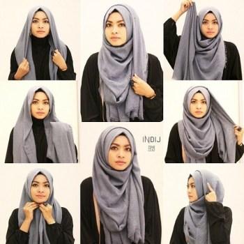 Tutorial Hijab Wisuda dengan Model Segi Empat Termodis