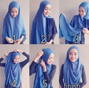 Tutorial Hijab Wisuda yang Simple dan Syar'i