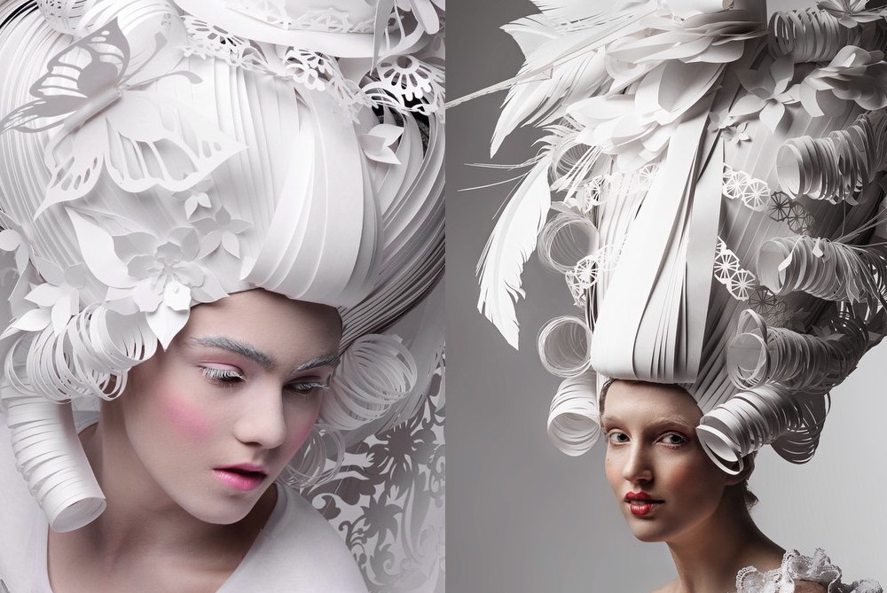 Baroque Paper Wig brings creativity to hairstyles