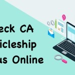 check ca articleship status online