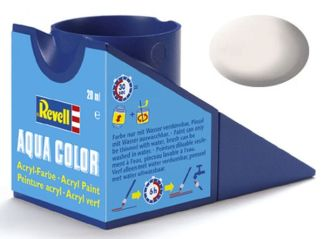 Revell 36105 Acrylic Paint 'Aqua' 18ml Solid Matt White RAL9001