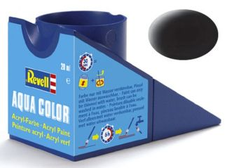 Revell 36108 Acrylic Paint 'Aqua' 18ml Solid Matt Black RAL9011