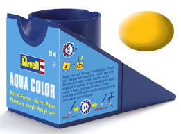 Revell 36115 Acrylic Paint 'Aqua' 18ml Solid Matt Yellow RAL1017