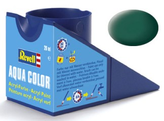 Revell 36148 Acrylic Paint 'Aqua' 18ml Solid Matt Sea Green RAL6028