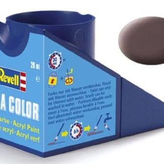 Revell 36184 Acrylic Paint 'Aqua' 18ml Solid Matt Leather Brown (RAL 8027)
