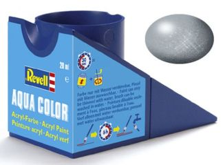 Revell 36190 Acrylic Paint 'Aqua' 18ml Solid Metallic Silver