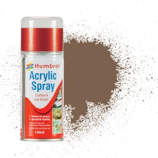 Humbrol 29 Dark Brown Matt - Acrylic Spray Paint 150ml (**Collection only**)