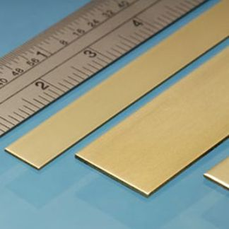 Albion Alloys BS5M Brass Strip 12mm x 0.6mm x 305mm (4 pieces)
