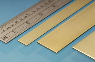 Albion Alloys BS6M Brass Strip 25mm x 0.6mm x 305mm (3 pieces)