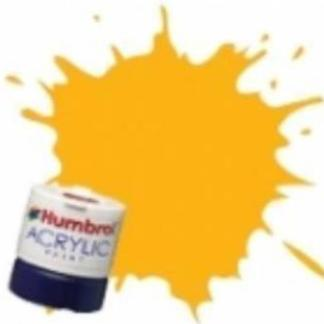 Humbrol 154 Insignia Yellow Matt - Acrylic Paint 14ml