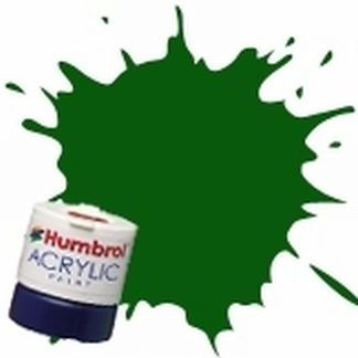 Humbrol 3 Brunswick Green Gloss - Acrylic Paint 14ml