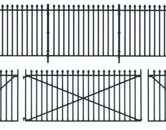 Peco LK-741 GWR Straight Spear Fencing and Gates (O gauge)