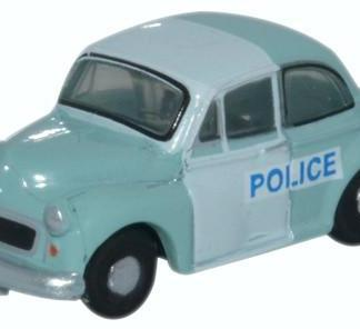 Oxford NMOS005 Morris Minor Saloon - Police Panda (N gauge)