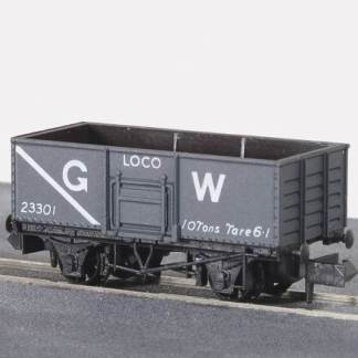 Peco NR-44W Butterley Steel type Coal Wagon - GW Dark Grey Loco Coal (N gauge)