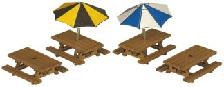Metcalfe PN810 Picnic Tables (N scale card kit)