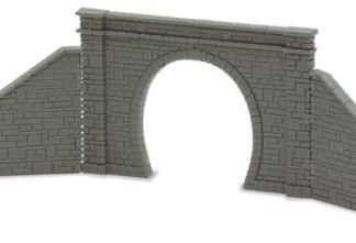 Peco NB-31 Tunnel Mouth & Walls, stone type, single track (N gauge)