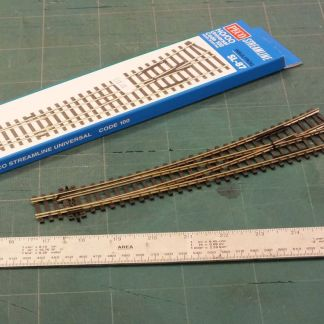 Peco SL-87  Code 100 Insulfrog Curved Left Hand Point (OO gauge)