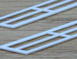 Plastruct SRS-4 Stair Rails (130mm x 10mm Pair) (OO scale)