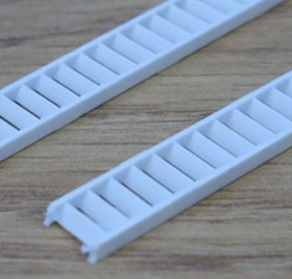 Plastruct STAS-4 Stairs (130mm x 10mm Pair) (HO/OO scale)